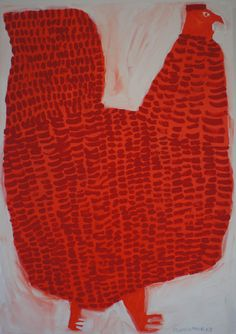 'Red Shamo' (2013) by Japanese artist Miroko Machiko. via the artist's sote