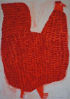 'Red Shamo' (2013) by Japanese artist Miroko Machiko. via the artist's sote