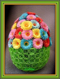 quilling for easter - Yahoo Image Search Results Quilling Craft, Quilling Flowers, Quilling Patterns, Quilling Designs, Paper Quilling, Paper Flowers, Egg Crafts, Easter Crafts, Hobbies And Crafts