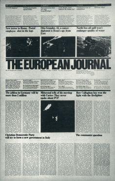 Massimo Vignelli, The European Journal 1978
