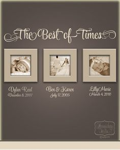 The Best of Times... vinyl wall quote by PersnicketyWallVinyl