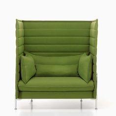 Alcove sofa & Love seat by Vitra. The high back Alcove sofa & Love seat range are acoustic high back seating ranges for meetings, breakout or work. Alcove Seating, Lounge Seating, Take A Seat, Love Seat, Cool Furniture, Furniture Design, Ronan & Erwan Bouroullec, Contemporary Sofa, Sofa Chair