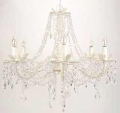 beautiful chandelier for girls room!