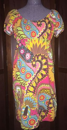 Uncle Frank Multi Color Stretch Floral Dress Medium EUC #UncleFrankIvyJane #Sheath