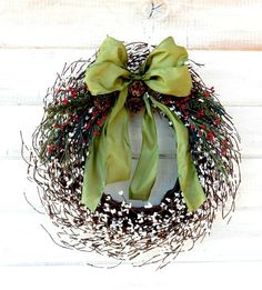 Christmas Wreath-Christmas Door Decor-Holiday by WildRidgeDesign
