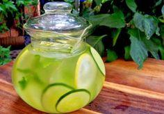 Agua de gengibre, pepino y limon para adelgazar