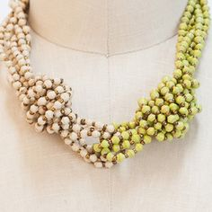 Horizontal Necklace Lime, $40, now featured on Fab.