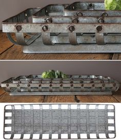 Rustic Tin Open Weave Trays