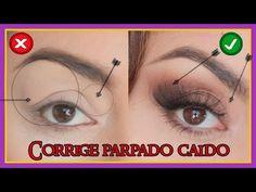 """Como aplicar sombras PASO A PASO para """"Parpado caído/ semi-caído"""" /Maquillaje Fácil Y Mas - YouTube"""