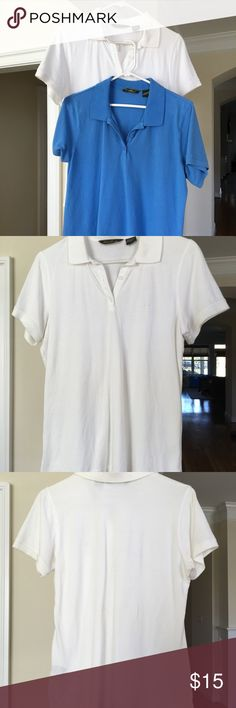 """Classic Polo Shirts Classic polo shirts in used condition. Wore them for work before we got uniforms, and that was like a decade ago. Held on to them """"just in case"""". But now I've come to realize I won't wear them ever again. Two shirts available. Buy one or buy both. 😊 Eddie Bauer Tops"""