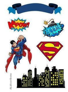 Superman Birthday Party, Batman Party, Superhero Party, Diy Birthday, Birthday Party Decorations, Bolo Do Superman, Superman Cake Topper, Superman Cakes, Bolo Super Man