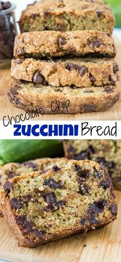 Chocolate Chip Zucchini Bread – soft and tender zucchini bread with hints of cinnamon and plenty of chocolate chips!