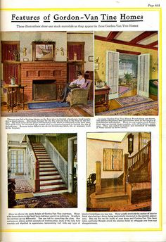 Interior views of Gordon-Van Tine Kit Homes (1920).