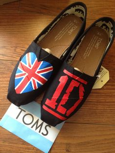One Direction Toms Shoesq. $99.99, via Etsy.