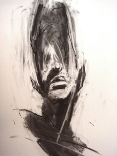 Nell Allen; Charcoal, Drawing Head.