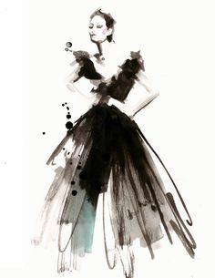 Bildergebnis für fashion illustration aquarell
