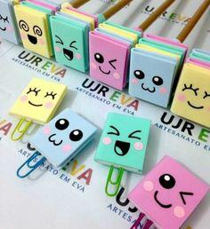 Lembrancinhas de Aniversário em EVA: Passo a Passo 27 Ideias Kids Crafts, Foam Crafts, Cute Crafts, Easy Crafts, Diy And Crafts, Paper Crafts, Kawaii Crafts, Bookmark Craft, Diy Bookmarks
