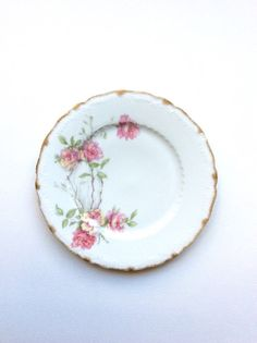 Baltimore Rose Haviland plate. Schleiger by SouthofFranceFinds