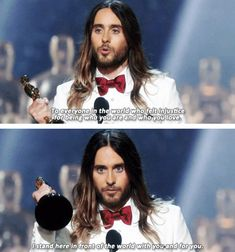 They were inspiring… | 27 Reasons Jared Leto Was The Absolute Best Person During All Of Awards Season