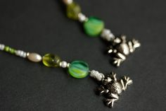 Frog Bookmark. Green Bookmark. Beaded Bookmark. Frog Book Charm. White Book Thong. Green Book Marker. Frog Book Thong. Handmade Bookmark. by Gilliauna from Bits n Beads by Gilliauna. Find it now at http://ift.tt/2aVyixO!