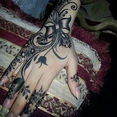 تعلم النقش نقش الحناء خطوة بخطوة Hand Henna Henna Hand Tattoo Hand Tattoos