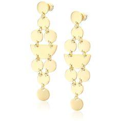 "Diane von Furstenberg ""Summer Disco"" Geometric Circle Chandelier Drop... ($21) ❤ liked on Polyvore featuring jewelry, earrings, circle drop earrings, diane von furstenberg, geometric jewelry, gold plated jewellery and diane von furstenberg jewelry"