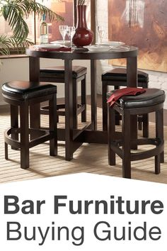 Aurora 5-Piece Dark Brown Modern Pub Table Set with Cabinet Base - Overstock Shopping - Big Discounts on Baxton Studio Pub Sets