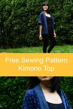 Sewing Tutorial : how to make a Kimono Top. Get this easy to make- all season Kimono top pattern for Free at On the Cutting Floor!