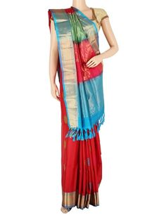 G3 exclusive maroon silk saree. Product Code : G3-WSA5868 Price: ₹ 10,115.00