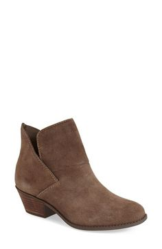 Free shipping and returns on Me Too 'Zale' Ankle Bootie (Women) at Nordstrom.com. Overlapping panels form the clean-lined silhouette of a go-to ankle bootie set on a sturdy stacked heel.