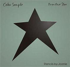 "Sm Stencil 3/"" Quilt Block Shape Country Primitive 8 point Star Design Art Signs"