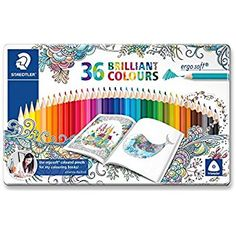 "Staedtler ""Johanna Basford"" Ergosoft Triangular Colouring Pencil - Assorted Colours (Pack of 36)"