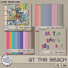Everyone loves the beach... this collectio is to honor my little piece of heaven!! Kit includes 22 papers and 38 elements. Elements include: 1 banner, 1 house, 1 bikini, 1 board, 2 borders, 1 bubble trail, 1 bucket, i camera, 1 castle, 1 chair, 2 clouds, 1 dolphin, 3 fish, 1 pair of flip flops, 1 floatie, 1 mermaid, 1 octopus, 1 palm tree, 1 rainbow, 1 sand dollar, 1 sea horse, 1 seaweed, 3 shells, 1 pair of shorts, 1 shovel, 1 starfish, 2 sun, 1 turtle, 1 umbrella, 2 waves.