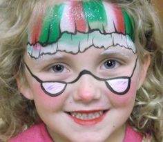 Christmas / Mrs. Claus Face Paint Design