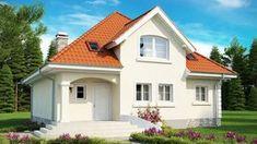 Bungalow House Plans, Bungalow House Design, Modern House Plans, House Roof Design, Red Roof House, House Front, House Paint Exterior, Dream House Exterior, Beautiful House Plans