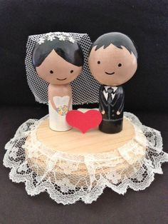 Cute Wedding Topper Customization Available by DesignsByHuuR, $40.00