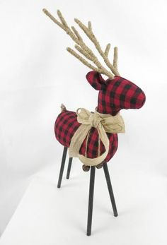Red and Black Checkered Reindeer