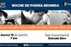 """""""Noches de Poesía Reunida"""" regresa este jueves 13 de agosto http://crestametalica.com/2015/08/10/noches-de-poesia-reunida-regresa-este-jueves-13-de-agosto/ vía @crestametalica"""