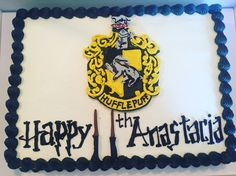 Hufflepuff cake for my Hufflepuff who turned 11.  Thanks Moon Wink Bakery out of Birmingham, MI