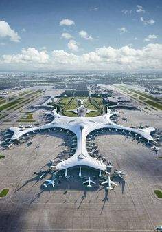 MAD Architects, led by Ma Yansong, releases its design for Terminal 3 of Harbin Taiping International Airport. Referencing the gentle slopes of China's vast Northern plains Taiping, Harbin, Architecture Design, Futuristic Architecture, Contemporary Architecture, Architecture Wallpaper, Chinese Architecture, Airport Terminal 3, Mad Design