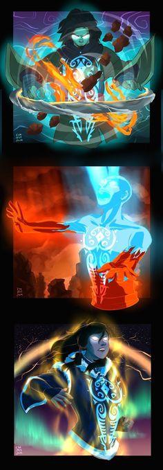 Avatar Wan , Aang & Korra