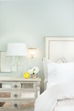 Get inspired by Glam Bedroom Design photo by Kendall Simmons Interiors. Wayfair lets you find the designer products in the photo and get ideas from thousands of other Glam Bedroom Design photos. Glam Bedroom, Home Bedroom, Master Bedroom, Bedroom Decor, Bedroom Ideas, Serene Bedroom, Bedroom Inspiration, Bedroom Photos, Bedroom Paint Colors