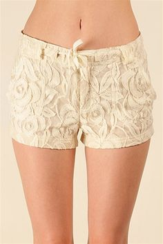 Lacey Lacey Shorts - Beige