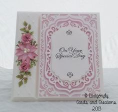 Dragonfly Cards and Creations: A Wedding Card
