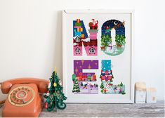 Santa's Coming to Town Cross Stitch Pattern by Stitchrovia