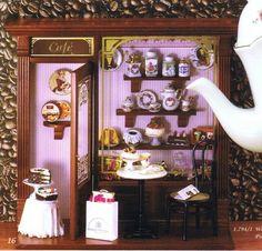 思わず可愛い!って言葉が漏れそう。 素敵なスイーツに臨場感溢れるテーブルに新聞に紙袋… ドイツ・ロイターポーセリン社製 ピクチャーボックス カフェです。