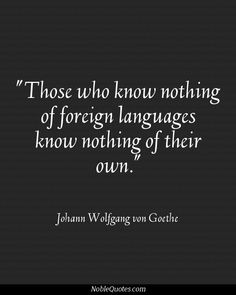 An honest quote about learning languages.