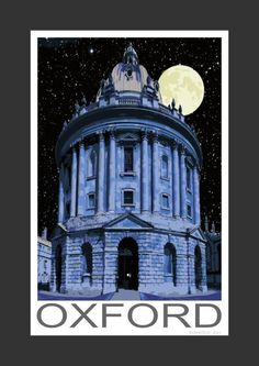 Radcliffe Observatory at night, Oxford (Art Print)