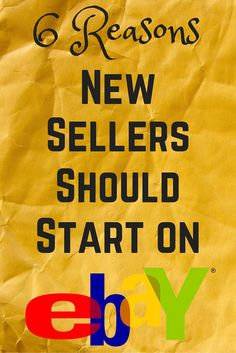 Want to start selling items online, but not sure which platform to use? This is a post you don't want to miss!  Here are six great reasons new sellers should start on eBay, plus an exclusive deal on my new eBay course, Your First Sale + eBay Seller Success in 30 Days or Less.  #WebRetailPro #Entrepreneur #SmallBusiness