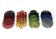 Laser-cut coasters by Molly McGrath www.mollymdesigns.com